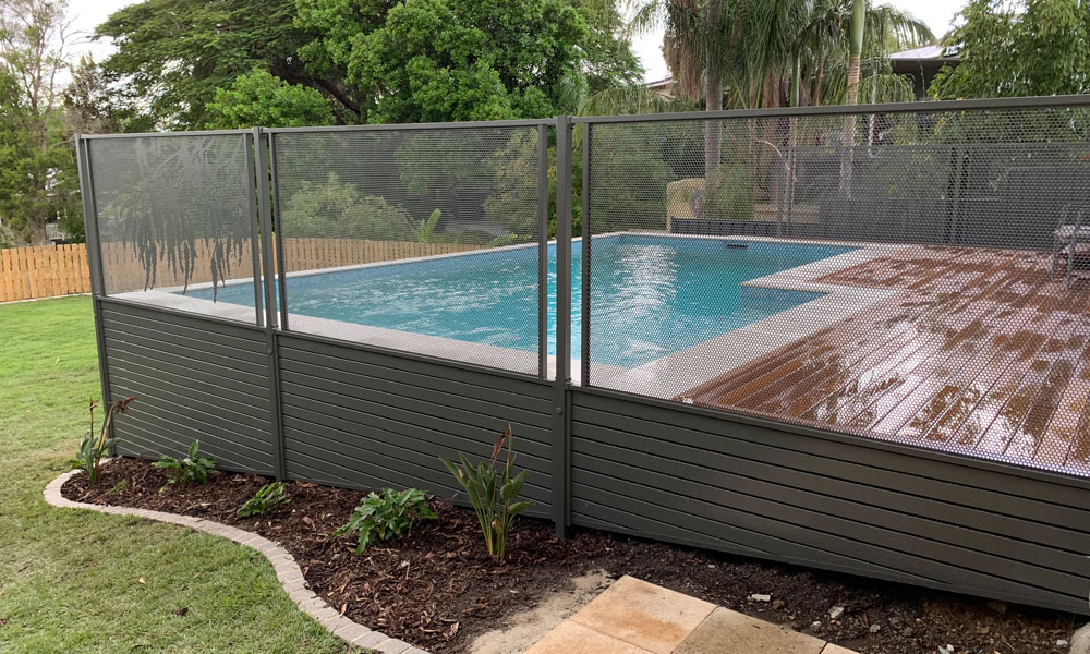 Perforated Pool Fencing Pool Perf by Decoview