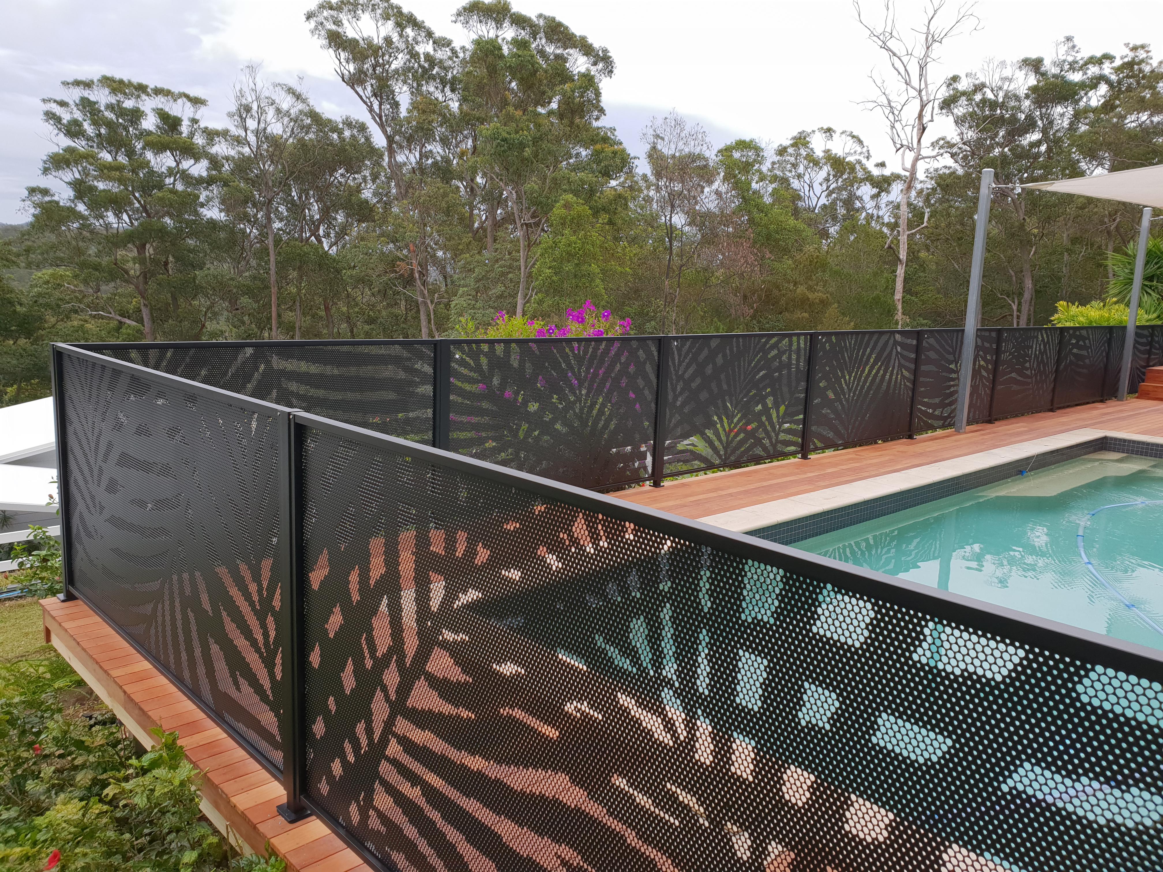 Decorative Pool Fencing Laser cut Pool Perf