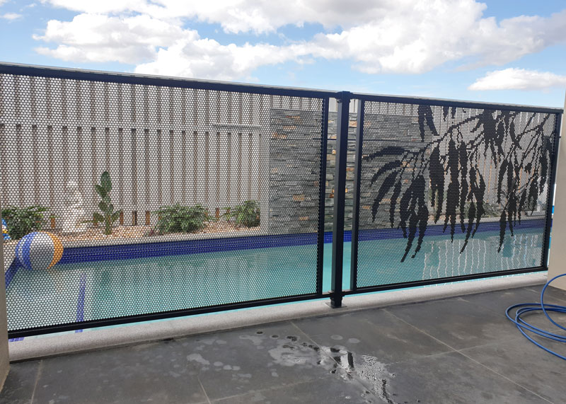 Perforated Pool Fencing