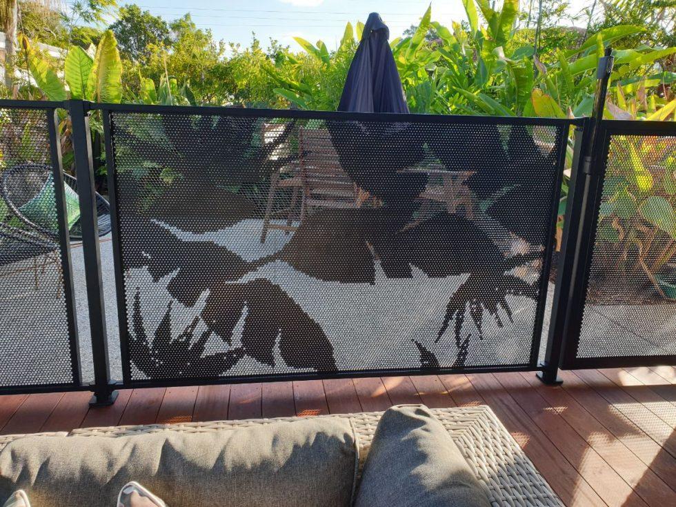 POOL PERF -Banana Leaf-Textured Black- pool fence -QLD