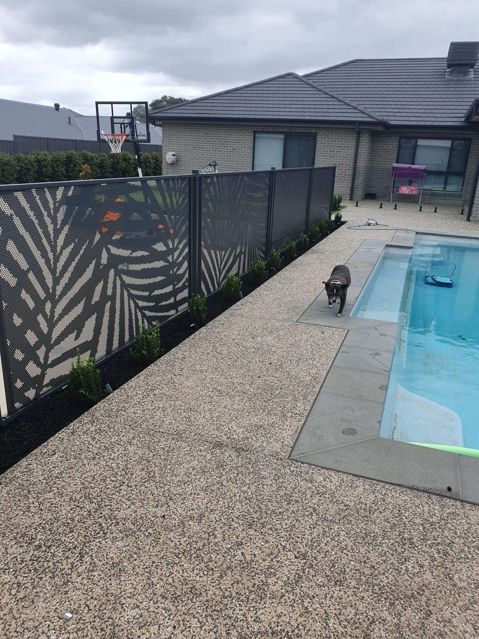 Palmy-Textura Monument-Pool Perf- Victoria - persafe pool fencing