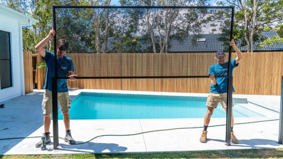 Pool Perf pureperf matt black byron and beyond fencing- NSW
