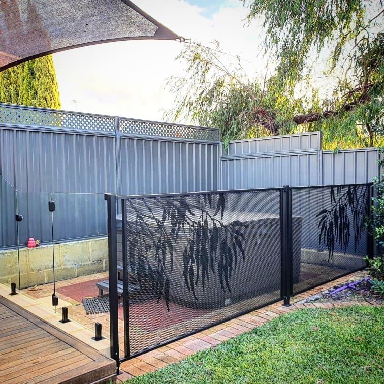 Pool perf - perfsafe - Gum - pool fencing - jccontemporaryfencing - Western Australia