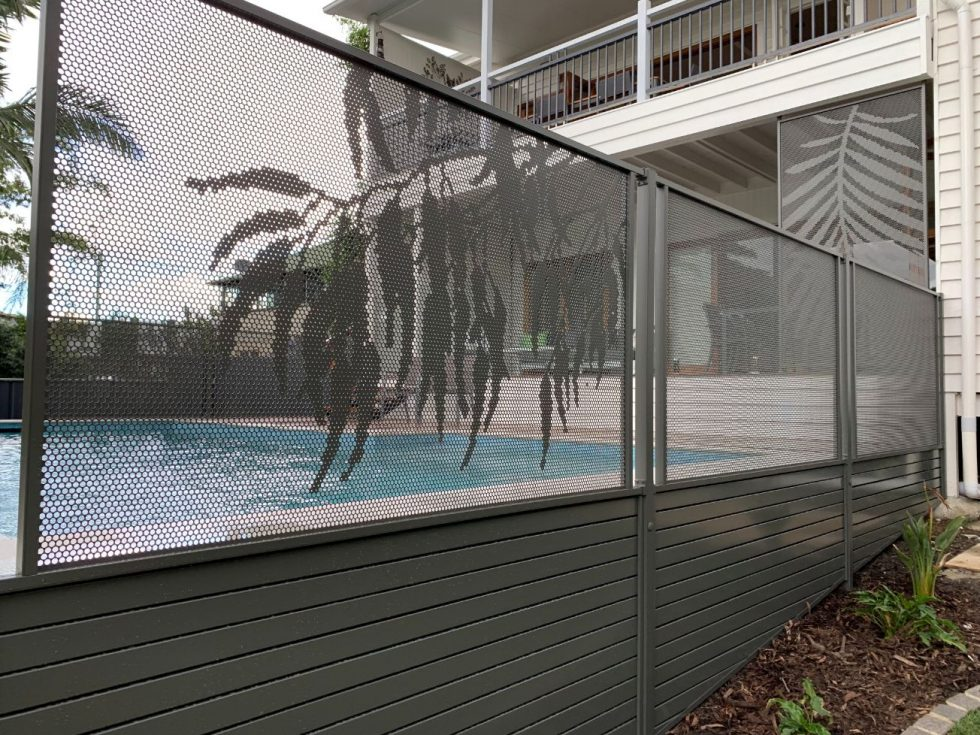 pool perf - monument - gum and pure perf - mesh fencing - QLD - council approved pool fencing