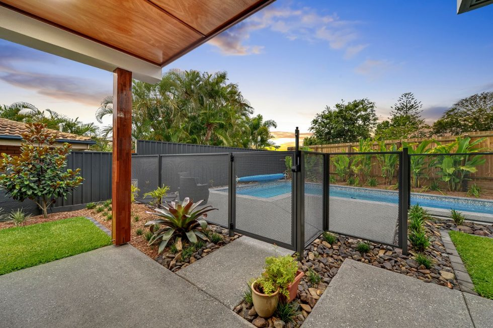 pool perf - textura monument - perfsafe - pure perf - mesh fence pool fencing - QLD