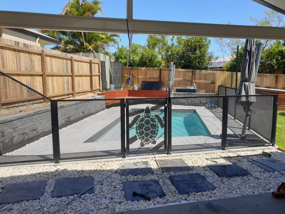 poolperf - Turtle Gate and pure perf panels - perfsafe - Odyssey Landscapes - QLD - Buderim