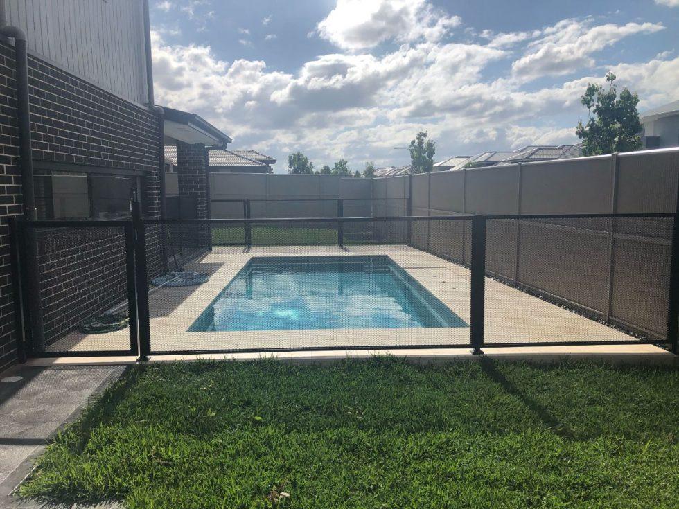 poolperf pureperf black jimsfencing nsw - custom pool fence