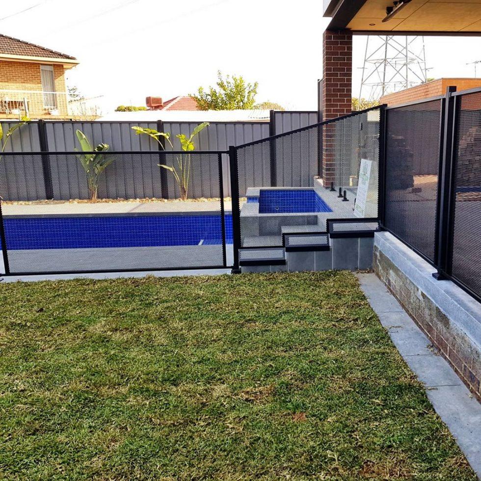 pool perf laser cut mesh fencing glass swimming pool alternative by poolperf pure