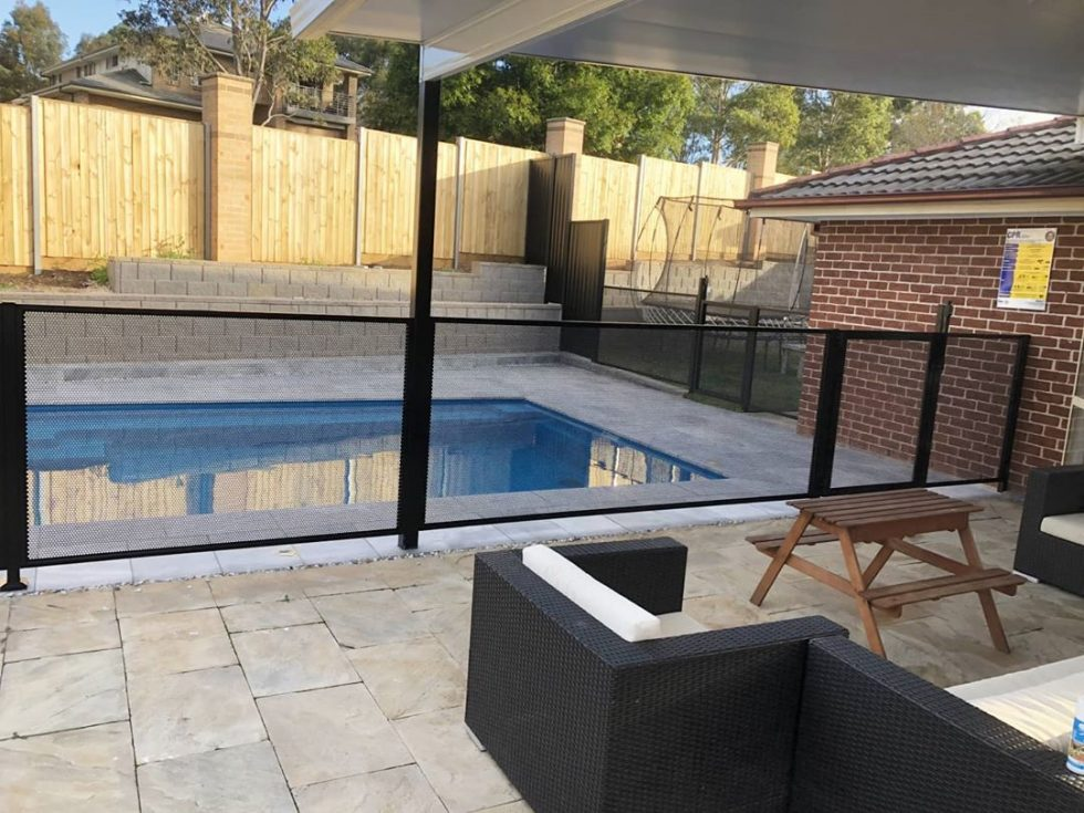 Pool Perf - black - pure perf - NSW - Jims Fencing Camden