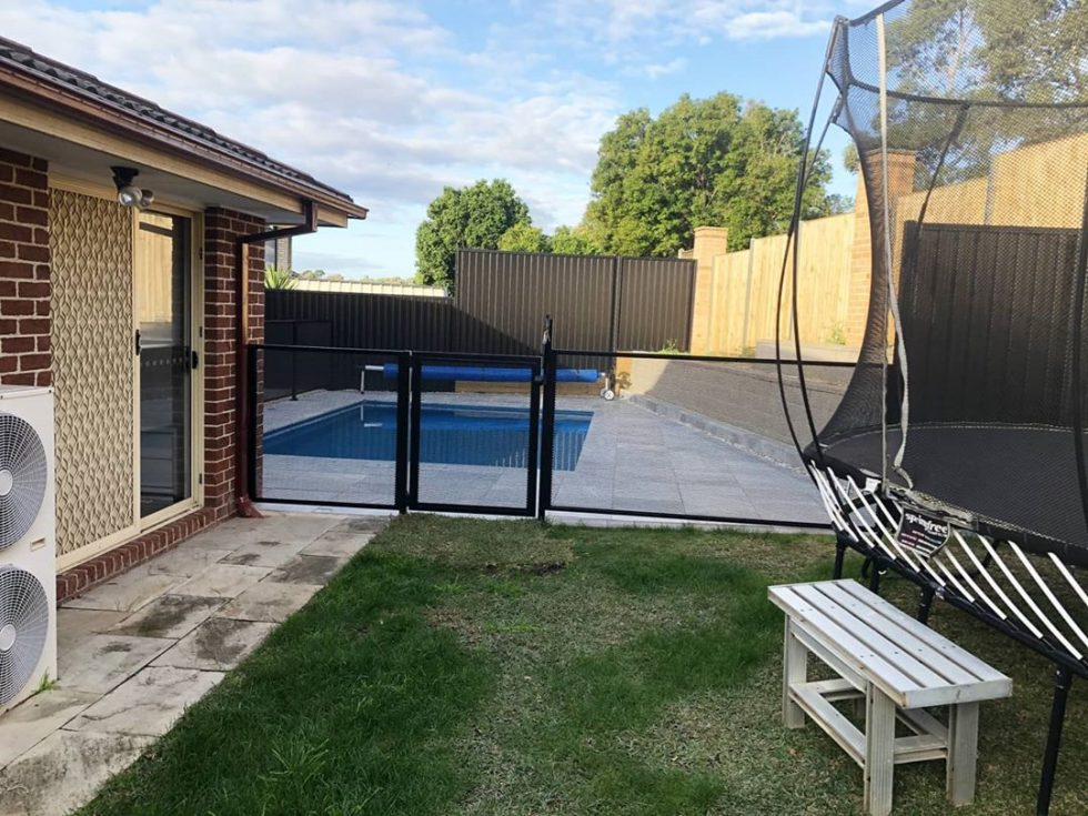 Pool Perf - black satin- pure perf - NSW - Jims Fencing Camden
